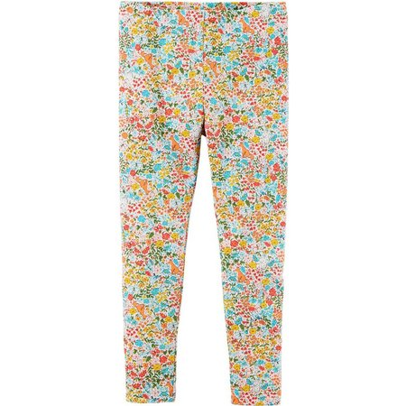 Carters Toddler Girls Floral Fox Leggings