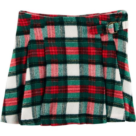 Carters Toddler Girls Plaid Flannel Skirt
