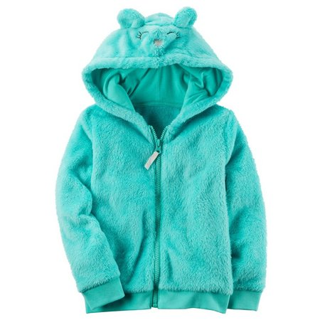 Carters Toddler Girls Fuzzy Mouse Character Hoodie