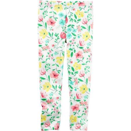 Carters Toddler Girls Floral Pastel Leggings