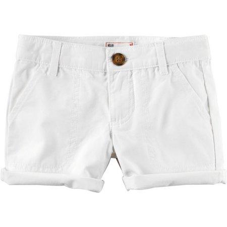 Carters Toddler Girls Twill Roll Cuff Shorts