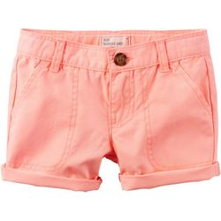 Carters Toddler Girls Roll Cuff Shorts
