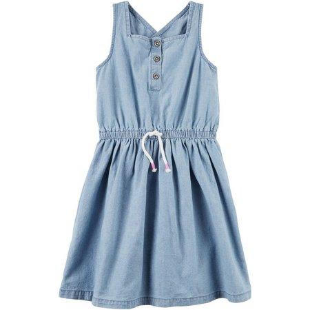 Carters Toddler Girls Henley Chambray Dress