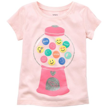 Carters Toddler Girls Gumball Emoji T-Shirt