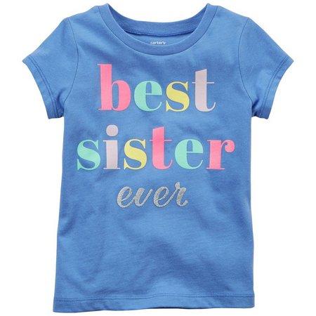 Carters Toddler Girls Best Sister Ever Glitter T-Shirt