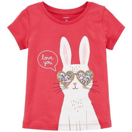 Carters Toddler Girls Love You Bunny T-Shirt