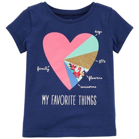 Carters Toddler Girls My Favorite Things Heart T-Shirt