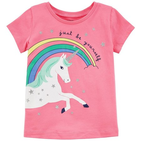 Carters Toddler Girls Just Be Yourself Unicorn T-Shirt