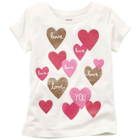 Carters Toddler Girls Love You T-Shirt