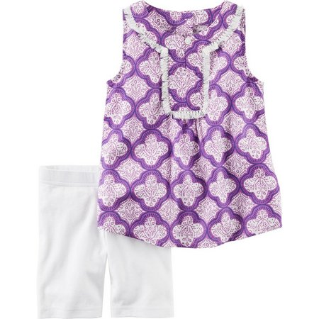 Carters Toddler Girls Medallion Shorts Set