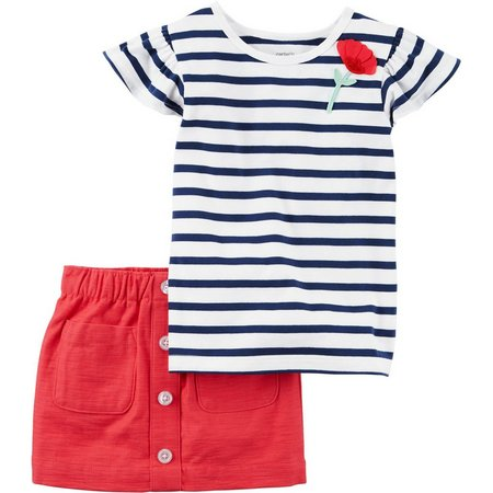 Carters Toddler Girls Stripe Skort Set
