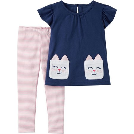 Carters Toddler Girls Bunny Rabbit Leggings Set