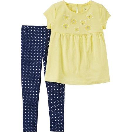 Carters Toddler Girls Daisy Dot Leggings Set