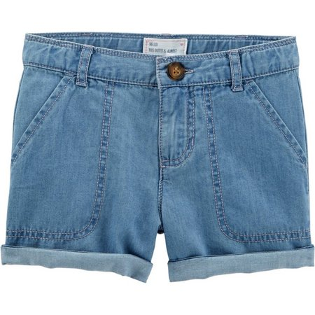 Carters Toddler Girls Denim Roll Cuff Shorts