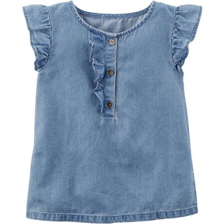 Carters Toddler Girls Denim Tunic Top