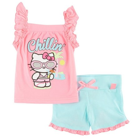 Hello Kitty Toddler Girls Chillin' Shorts Set