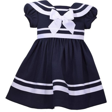 Bonnie Jean Toddler Girls Stripe Sailor Dress