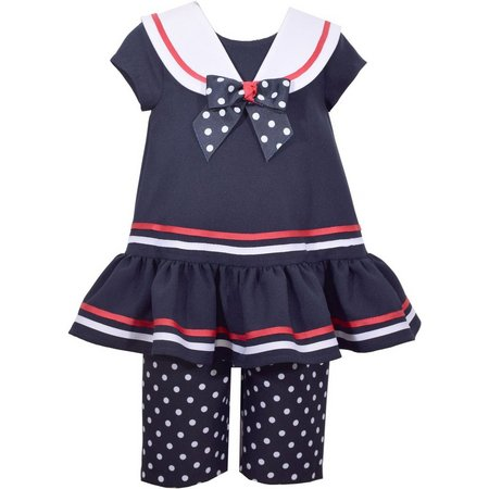 Bonnie Jean Toddler Girls Sailor Leggings Set