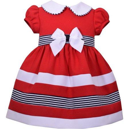 Bonnie Jean Toddler Girls Stripe Bow Dress