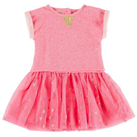 Cherokee Toddler Girls Heart Tutu Dress