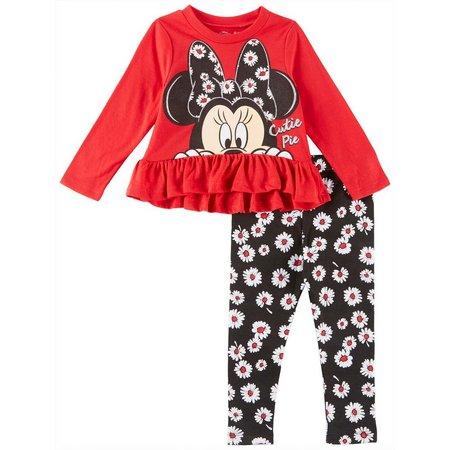 Disney Minnie Mouse Toddler Girls Floral Leggings Set