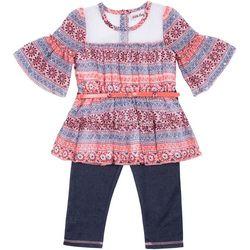 Little Lass Toddler Girls Boho Pants Set