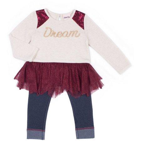 Little Lass Toddler Girls Dream Tutu Leggings Set