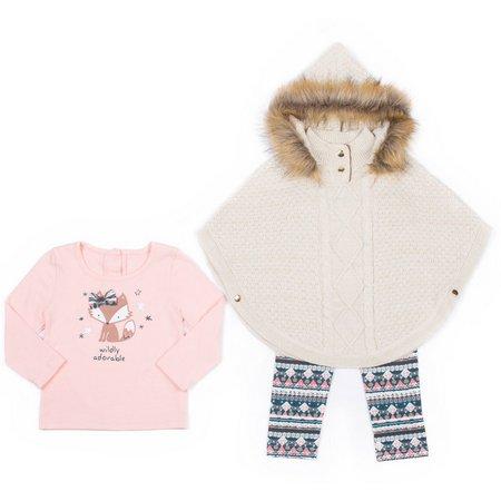 Little Lass Toddler Girls 3-pc. Fox Sweater Layette