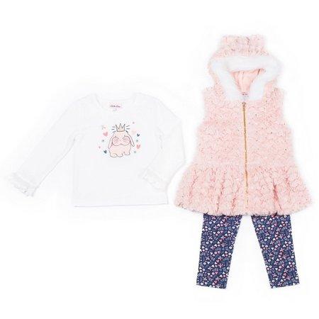 Little Lass Toddler Girls 3-pc. Faux Fur Vest