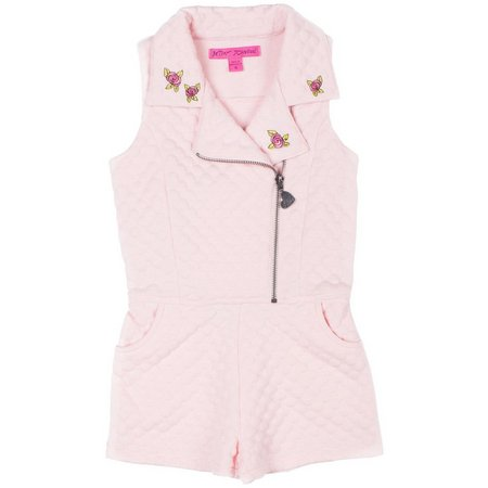 Betsey Johnson Toddler Girls Quilted Moto Romper