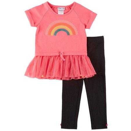 Freestyle Toddler Girls Rainbow Tutu Leggings Set