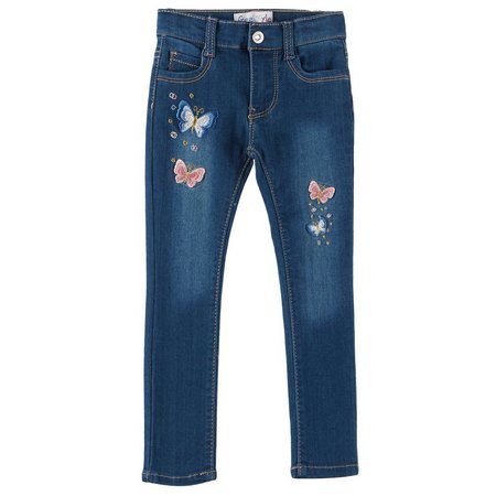 Freestyle Toddler Girls Comfort Butterfly Jeans