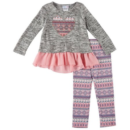 Freestyle Toddler Girls Heart Leggings Set