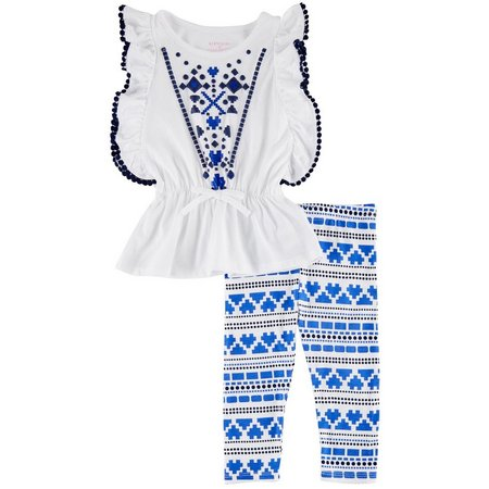 Kidtopia Toddler Girls Aztec Leggings Set