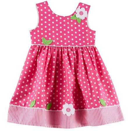 Blueberi Boulevard Toddler Girls Dot Dress