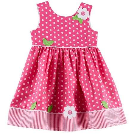 Blueberi Boulevard Toddler Girls Dot Dress