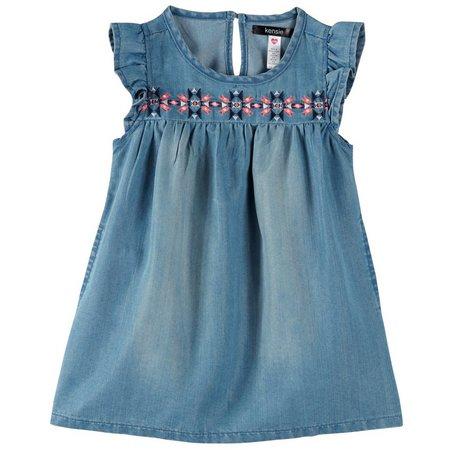 Kensie Toddler Girls Denim Dress