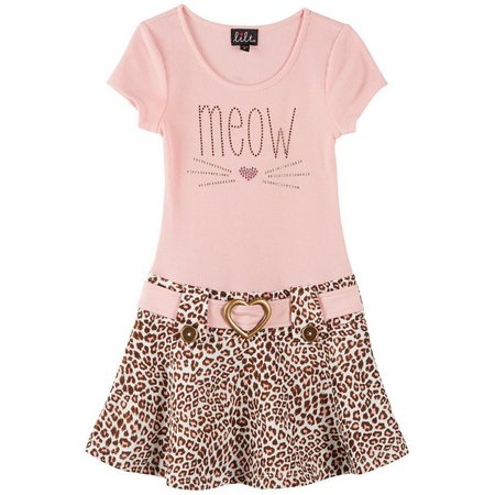 Lilt Toddler Girls Meow Marsha Dress