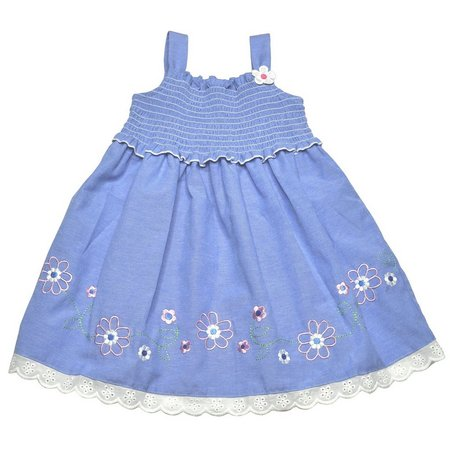 Samara Toddler Girls Floral Chambray Sundress