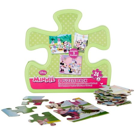 Disney Minnie Mouse 3 Puzzle Pack