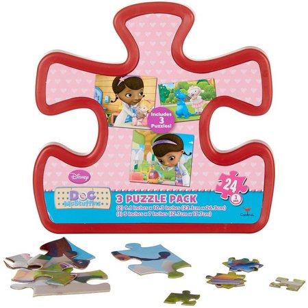Disney Doc McStuffins 3 Puzzle Pack
