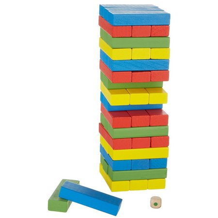 Real Wood Games Colorful Wooden Tower