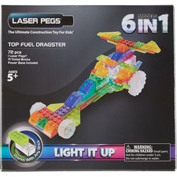 Laser Pegs 6-in-1 Top Fuel Dragster