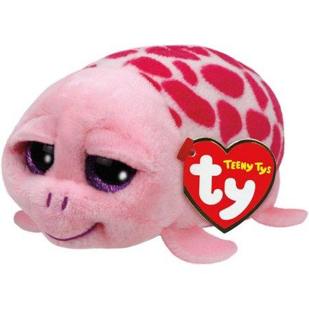 TY Teeny Tys Shuffler the Pink Turtle