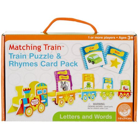 MindWare Train Puzzle & Rhymes Card Pack