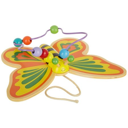 Real Wood Toys Large Pull Along Butterfly