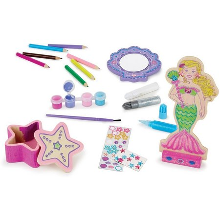 Melissa & Doug Decorate-You-Own Wooden Mermaid Set