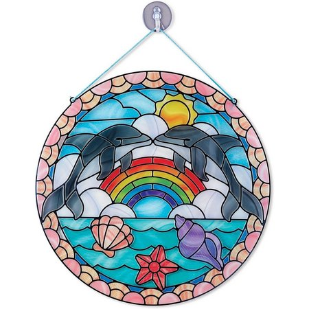 Melissa & Doug Stained Glass Made Easy Dolphin