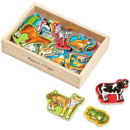 Melissa & Doug Wood Animal Magnet Set