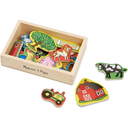Melissa & Doug Wooden Farm Animal Magnet Set
